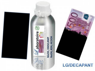 Black banknotes cleaning